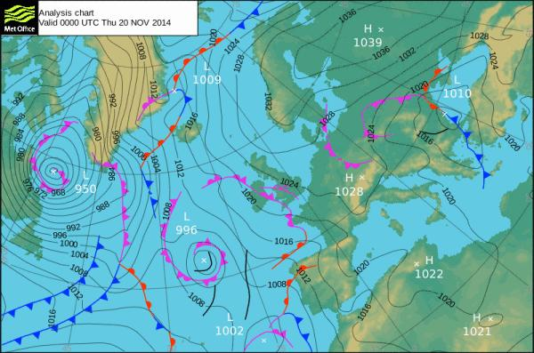 surface pressure chart
